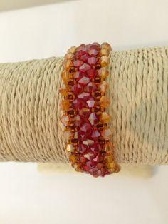 Swarovski jewelry.Swarovski  Bracelet.statement bracelet .Beaded bracelet.Bridal bracelet.wedding jewelry.gift for her. From Israel