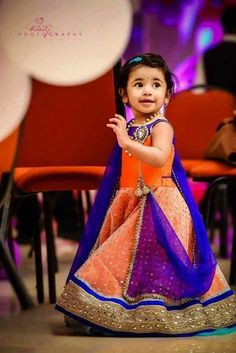 Presenting Indian Kids Wear Designers Whose Exclusive Creations Have Stolen Our Hearts Kids Indian Wear, Kids Ethnic Wear, Little Girl Dresses, Girls Dresses, Baby Dresses, Kids Blouse Designs, Kids Lehenga, Baby Lehenga, Kids Gown