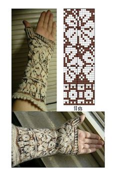 Ravelry: some's Stranded samples by ivy Designer Knitting Patterns, Fair Isle Knitting Patterns, Knitting Charts, Knitting Designs, Knitting Stitches, Knitted Mittens Pattern, Fingerless Gloves Knitted, Knit Mittens, Knitting Socks