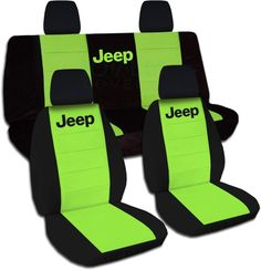 Amazon.com: Jeep Wrangler JK (2011 to 2016) Two-Tone Seat Covers with Jeep…