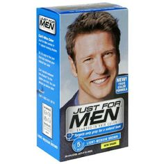 Just for Men Shampoo-In Hair Color, Light-Medium Brown, H-30, 1 Application, (Pack of 3) - Packaging May Vary by Just for Men. $23.97. Works in 5 easy minutes. *Packaging may vary*. Ammonia Free Vitamin enriched, Lasts up to six weeks. Targets only the gray for a natural look. New! True Color Formula. Lasts up to 6 weeks. True color formula. Targets only gray for a natural look. 5 Easy minutes. The world's leader in men's haircolor. Looks Natural: Just for Men targets only t...