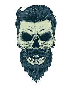 Pictures for printing Skeleton Drawings, Skeleton Art, Beard Logo, Beard Tattoo, Skull Tattoo Design, Skull Tattoos, Tatoo Art, Beard Art, Skull Wallpaper