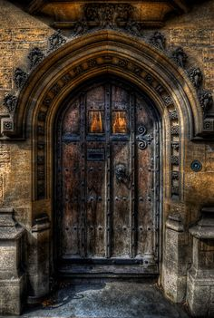 Old College Door, Oxford, England