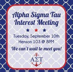 Interest Meeting #AST