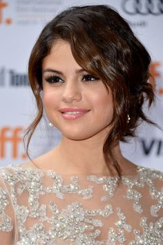 Selena Gomez's lip is a pale pink dream at the 2012 Toronto International Film Festival