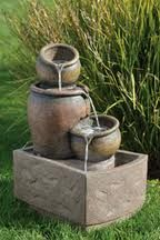 outdoor fountains 	outdoor fountains this a 100 year old design style.so this steap a slow sound.	http://www.fountaincellar.com/