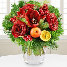 Blumenstrauß Weihnachtstraum - Verzaubern Sie Ihre Liebsten mit diesem Schmuckstück, das wie ein Diamant funkelt und glitzert. #Blumen #Weihnachten #Geschenk