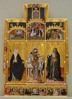 File:Retaule de Sant Martí amb Santa Úrsula i Sant Antoni Abat, Gonçal Peris, Museu de Belles Arts de València.JPG