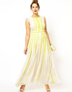 :ASOS CURVE Salon Maxi Dress With Applique $203.64