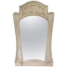 Very Tall French Art Nouveau Mirror,early 1900's ~| From a unique collection of antique and modern floor mirrors and full-length mirrors at http://www.1stdibs.com/furniture/mirrors/floor-mirrors-full-length-mirrors/