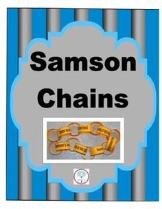 Fact Chains for Samson in the Old Testament freebie