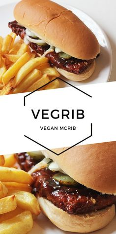Vegan McRib - Cheap & Cheerful Cooking - Vegan Recipes Vegan Junk Food, Vegan Foods, Vegan Dishes, Vegan Fast Food, Healthy Junk, Vegan Lunches, Vegan Comfort Food, Vegan Snacks, Healthy Chicken