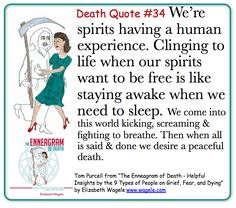 "Death Quote #34 from ""The Enneagram of Death"" by Elizabeth Wagele"