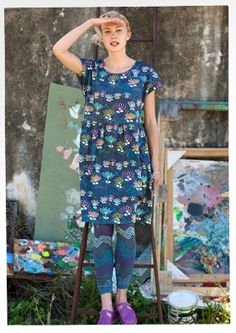 "#Farbbberatung #Stilberatung #Farbenreich mit www.farben-reich.com ""Tove"" cotton dress – 20% off all dresses! – GUDRUN SJÖDÉN – Webshop, mail order and boutiques 