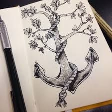 Image result for tree anchor tattoo