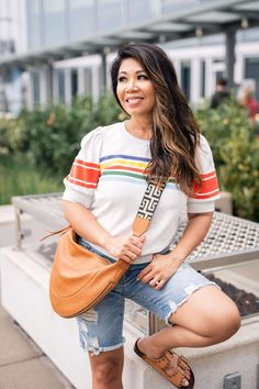 Here are some Fourth of July outfit inspo for you! These are also great outfits to wear all summer! Blue And White Espadrilles, Hot Summer Outfits, Red One Piece, Warm Weather Outfits, White Jumpsuit, Vacation Style, Flutter Sleeve Top, Spring Trends, Bold Prints