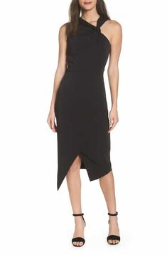 6b3200a8a1ba Harlyn Twist Front Asymmetrical Cocktail Dress Latest Clothing Trends,  Black Cocktail Dress, Jumpsuit