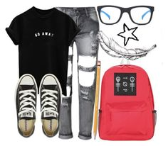 """""""We Are Who We Are//"""" by tell-me-pretty-lies ❤ liked on Polyvore featuring Converse, adidas and Paper Mate"""
