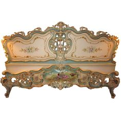 Vintage Italian Venetian Bed | From a unique collection of antique and modern beds at http://www.1stdibs.com/furniture/more-furniture-collectibles/beds/ Eye Candy For The Boudoir