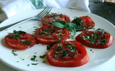 Kids Cooking Recipe: Fresh Tomatoes with Herbs and Olive Oil