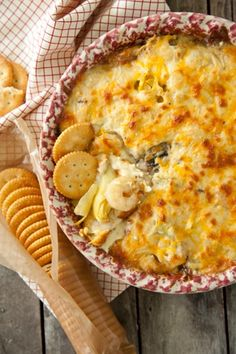 Shrimp and Artichoke #Dip. Save this recipe for your next party or get-together - you will be the star of the show!
