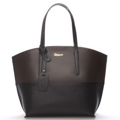 5a51461ff00 Luxusní dámska kožená kabelka v černo-hnědé barvě Delami s nadčasovým a  zároveň trendy designem