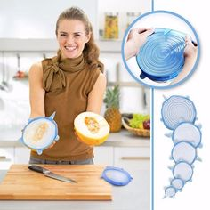 Basic Deal Silicone Stretch Lids, of Various Sizes Reuseable Food Storage Covers for Bowl, Food Saver Covers Safe in Dishwasher, Microwave and Freezer Brand new and high quality Tupperware, Kitchen Tools, Kitchen Gadgets, Buy Kitchen, Kitchen Dining, Smart Kitchen, Wine Gadgets, Kitchen Utensils, Kitchen Appliances