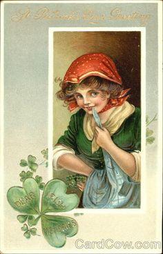 St. Patrick's Day Greetings Dear Irish Memories B. B. London Series 2602