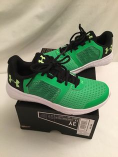 a5b2492951f8 New Under Armour Boys BGS Micro G Fuel RN Shoes Sneakers