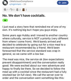 When the service makes the decision to be lousy, people have to find their own solutions. #funny #story #restaurant #service #drinks