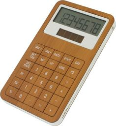 Lexon bamboo calculator
