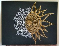 11x14 Painted Henna Inspired Canvas by StyleCanvas on Etsy: