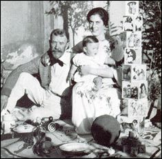 Lincoln Steffens, Ella Winter and their son, Peter.