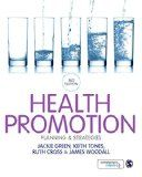 Green, J., Tones, K., Cross, R., & Woodall, J. (2015). Health promotion: Planning & strategies (3rd ed.). Los Angeles: Sage.