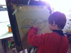 """Taller de pintura mitjans """"El violí"""" curs 2013  www.escolatrac.com"""