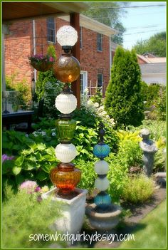 """Inspired repurpose project from """"Somewhat Quirky: Building Glass Towers!"""""""