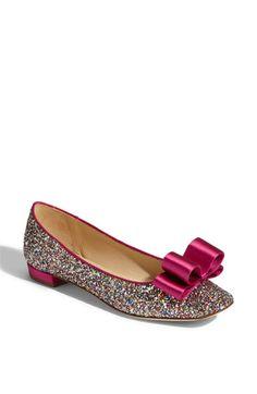 Kate Spade Glitter flats