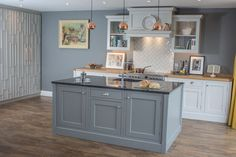 A mix of solid Shaker-style cabinetry with elegantly patterned floor to ceiling larder units. Handmade fine furniture - made by craftsmen in the Surrey Hills. Fine Furniture, Furniture Making, Larder Unit, Extension Designs, Bespoke Kitchens, Floor Patterns, Bespoke Design, Shaker Style, Surrey