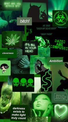 🐍💸🔫 Green Aesthetic Background 🔫💸🐍