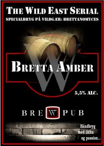 Bretta AmberWild east fermented amber - 5,5% alc. /  In our special serial  of beer fermented on the wild yeast Brettanomyces, you can taste our Bretta Amber. The beer is brewed with pilsner and caramel malts, and – especially – dry hopped with Mittelfrüh.
