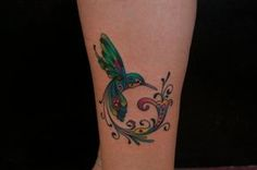 Custom Color Hummingbird Tattoo - Bayside Tattoo, Traverse City Tattoo Shop