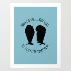 Beavis and Butthead Art Print by Suzanne Okane - $15.00