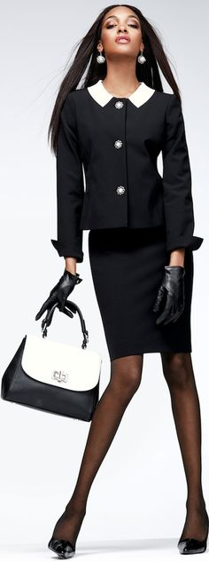 Think this is a good business outfit. I even love the handbag.