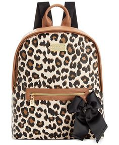 Betsey Johnson Macy's Exclusive Leopard Backpack - Handbags & Accessories - Macy's