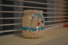 candelero con funda tejida al crochet https://www.facebook.com/objetosconhilos