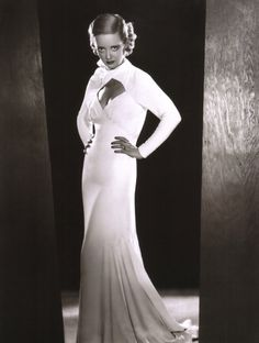 "Bette Davis in ""Ex-Lady"". 1933 (gowns by Orry-Kelly)"