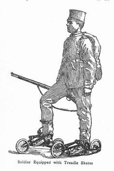 Treadle Skates. 1909 Took Them Seriously.