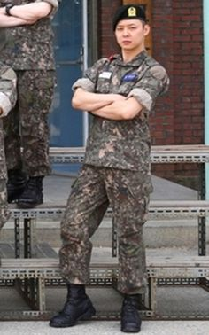 Photo of JYJ′s Park Yoo-chun at Army Training Center Released