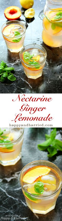 NECTARINE GINGER LEMONADE. Delicate and bold at the same time, this nectarine…