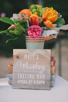 Whiskey tasting: http://www.stylemepretty.com/little-black-book-blog/2015/06/08/colorful-citrus-inspired-southern-california-wedding/ | Photography: Jake & Necia - http://www.jakeandnecia.com/